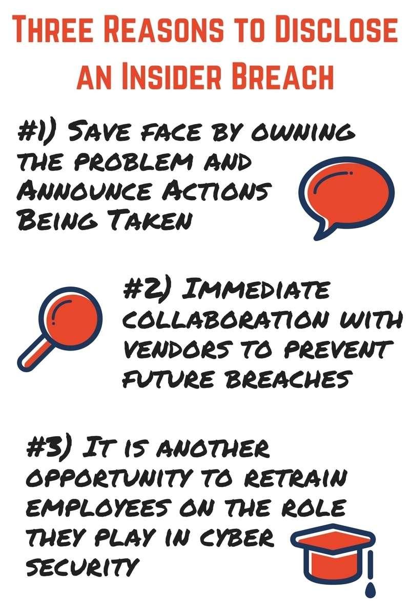 Three Reasons to Disclose an Insider Breach